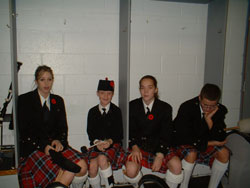 Waiting to play on Remembrance Day